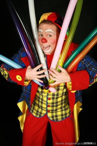 clown noni kindershow, ballonnen
