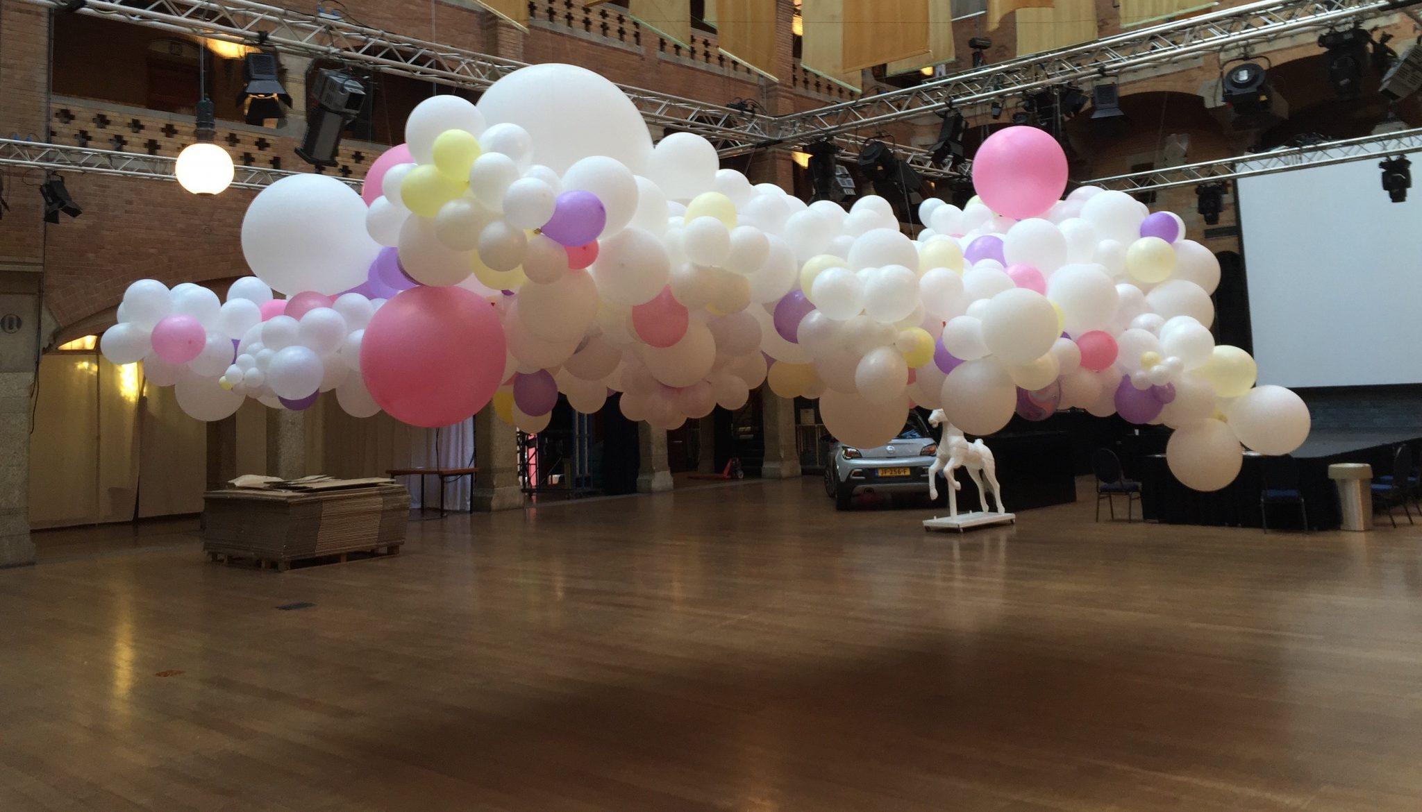 organic balloon decoration, feest